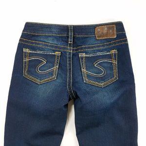 Silver Jeans Aiko Bootcut Thick Stitch Denim Pants